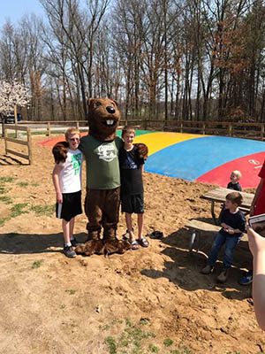 timber and his friends at gateway park campground in mi